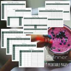 Health and Wellness Printable Planner Workbook