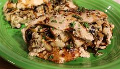 CHICKEN STUFFED WITH APPLES & BLUE CHEESE - Taking great salad combinations like blue cheese, apples, pecans and cranberries and stuffing them into a split chicken breast is a great way to utilize your favorite flavors in a new way. Drizzle the baked, stuffed chicken with a balsamic reduction and you've got a new twist on an old favorite.