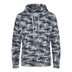 Just Hoods JH014 Grey Camo Hoodie - £19.49