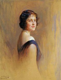Queen Elizabeth, when Duchess of York  Philip Alexius de László (1931)