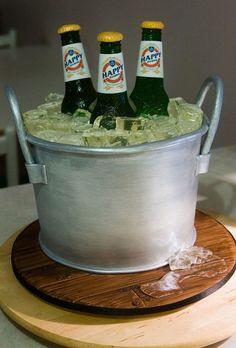 Grooms cake Cake Ideas - Beer Bucket Cake