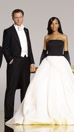 Scandal. President Fitzgerald Grant and Olivia Pope played by Tony Goldwyn and Kerry Washington