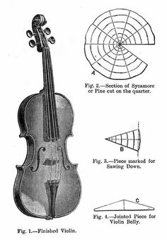 Fig. 1. - Finished Violin Music Images, Music Pictures, Music Guitar, Art Music, Violin Drawing, Cello Concerto, Double Bass, Guitar Building, Musical Instruments