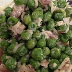"Berkeley Bowl calls this ""Prosciutto and Pea Salad."" I call it ""A Crapload of Peas and Maybe Some Prosciutto  As a Nice Surprise."" Like peanuts in a box of CrackerJacks. Still pretty good, though."