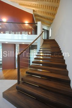 Cantilevered Stairs Floating Modern Design Cantilever Timber Staircase