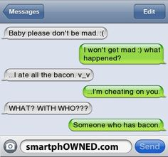 Bacon - - Autocorrect Fails and Funny Text Messages - SmartphOWNED