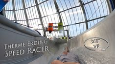 Therme Erding Speed Racer (Yellow Slide) 360° VR POV Onride
