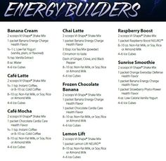 Body By Vi ~ Energy Vi-Shake Recipes!  www.michellegallant1117.myvi.net
