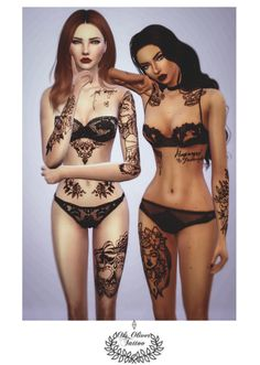Sims 4 CC's - The Best: Tattoos by oksoliversim