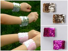 Girl Superhero SPARKLE BLASTER set arm bands As by superkidcapes, $7.99
