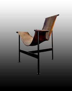 Max Gottschalk Leather Sling Chair In Original Upholstery From The Mid 70u0027s  (SOLD)