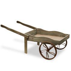 """GAGC30-43G Garden Accents 43"""" Wooden Garden Cart - Light Grey"""