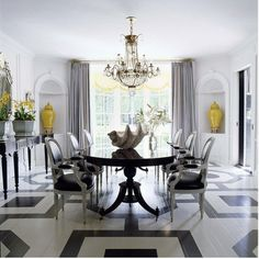 Mary MacDonald - queen of graphic painted floors #dining