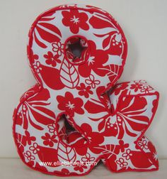 Red Ampersand Cushion by EllieBJewels on Etsy
