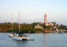 Early Morning in Hope Town Harbour, Abaco, Bahamas.