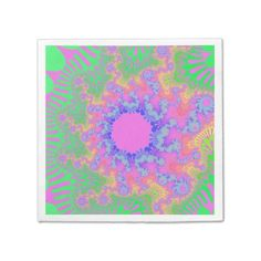 Customizable Neon Rainbow Sunburst Paper Napkins on sale at www.zazzle.com/wonderart* Click on the picture to take you directly to the product for purchase and info.