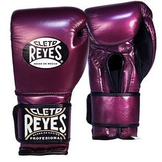 Gloves - Martial Arts 97042: Cleto Reyes Hook And Loop Leather Training Boxing Gloves - Purple BUY IT NOW ONLY: $174.95
