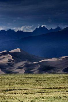 Sunset Dunes And Crestone Peaks Great Sand National Park Colorado Summit