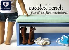 FREE DIY - how to make a doll-sized upholstered bench www.pixiefaire.com