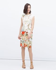 Image 1 of FLORAL PRINTED TUBE DRESS from Zara