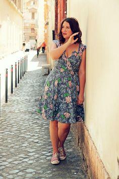 Vintage dressing in Rome.