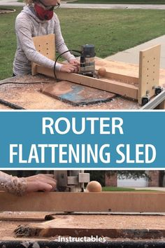 If you don't have the money or space for a large planer, a router flattening sled is a great option for you to be able to plane large slabs without having to spend too much money to make this. Router Flattening Sled Source by