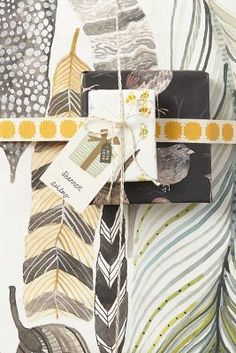 i spy some little bees in this beautiful wrapping paper! #bees #paper #gifts