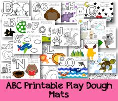 printable play dough mats