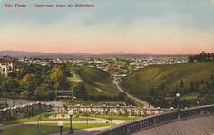 1910 - Avenida Paulista, vista a partir do  Belvedere em direção ao centro. Atualmente o Belvedere é onde está construído o MASP - Museu de Arte de São Paulo.