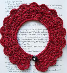 crochet lace collar pattern – Knitting Tips Crochet Collar Pattern, Col Crochet, Crochet Lace Collar, Crochet Stitches, Free Crochet, Crochet Patterns, Crochet Scarves, Crochet Clothes, Crochet Crafts