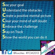 Time to show the world you can do it! #FCM2013