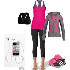 i work out, created by brilynnhere on Polyvore   I would own ALL lululemon if I could....