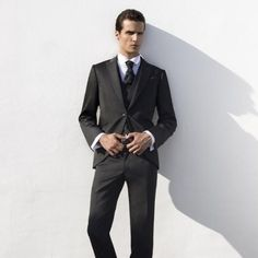 cravatta nera uomo