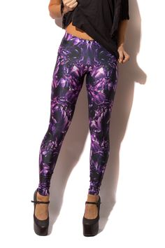 XS Amethyst Leggings by Black Milk Clothing
