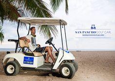 Golf Cart Rental on San Pancho beach #sanpancho #Nayarit #Mexico #beach #golfcart