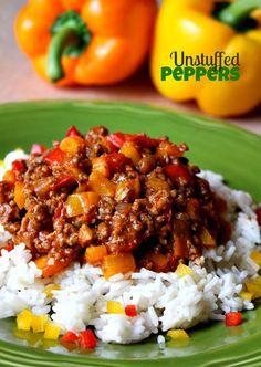 Unstuffed Peppers are so good you're kids will eat their vegetables and ask for more!
