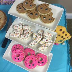 Shopkins party cookies #spkbirthdays