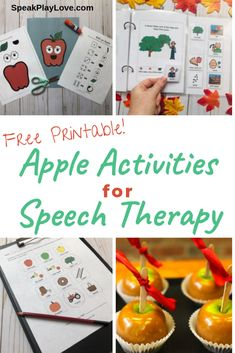 These apple activities for speech therapy and special education classrooms are perfect for students with autism and who use AAC. These activities all use lots of visuals to help with language development! Sensory Activities Toddlers, Apple Activities, Sequencing Activities, Autism Activities, Speech Therapy Activities, Language Activities, Is My Child Autistic, Teaching Vocabulary, Special Education Classroom