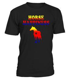 Horse Happiness T-shirt I Love Horses Horseback Riding Tee