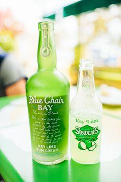 Blue Chair Bay's Key Lime Rum Cream + Key Lime Soda = a delicious summer treat.