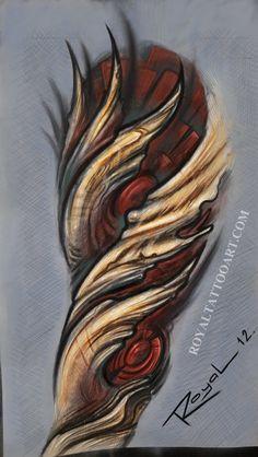 Bio-organic tattoo design by Royal3