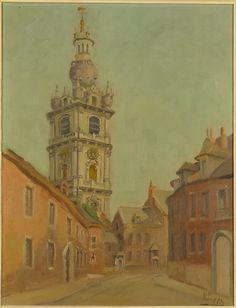 Vue du Beffroi de Mons - de POPPE Henri(Chatelineau ?, 1970)