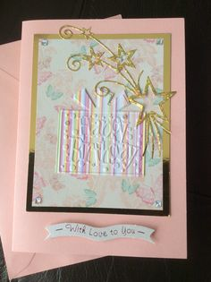 Card for a niece, using sentiment from some I found on eBay, and