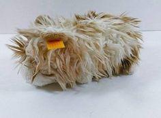 """8"""" Steiff Tan Cream Guinea Pig? Hamster? Furry Hair Plush Toy w Button Tag B250"""