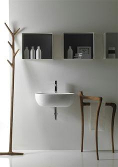 Modern Contemporary Bathroom Design: Modern Rustic Bathroom Furniture Collection Ergo By Galassia Rustic Bathroom Decor, Wood Bathroom, Bathroom Furniture, Bathroom Interior, Modern Bathroom, Bathroom Sinks, Bathroom Ideas, Minimal Bathroom, Bathroom Designs