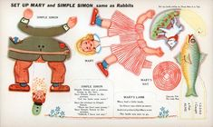 Lively Chicks and Rabbits - Mary's Lamb and Simple Simon