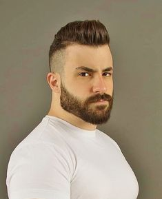 Great cut & beard - New Site Beard Styles For Men, Hair And Beard Styles, Hair Styles, Great Beards, Awesome Beards, Mens Hairstyles With Beard, Haircuts For Men, Hairy Men, Bearded Men