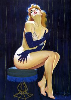 Ernest Chiriaka - 1955, Blue gloves never looked better!
