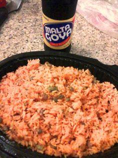 arroz con gandules y malta --Puerto Rican Food #yumm