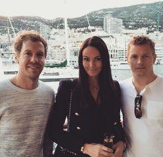 KimiRaikkonen with MinttuVirtanen and Sebastian Vettel, MonacoGp '2015